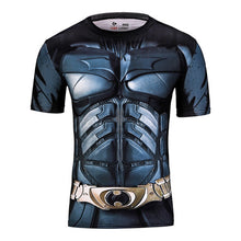 2015 American league devil batman superman tights man, the man of the super elastic sleeve round collar T-shirt fitness clothing - Clearlygeek - 10