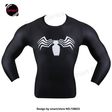 Fashion Marvel Comics Super Heroes Spiderman Captain America Batman Lycra Tights sport T shirt Men fitness clothing Long sleeves - Clearlygeek - 3