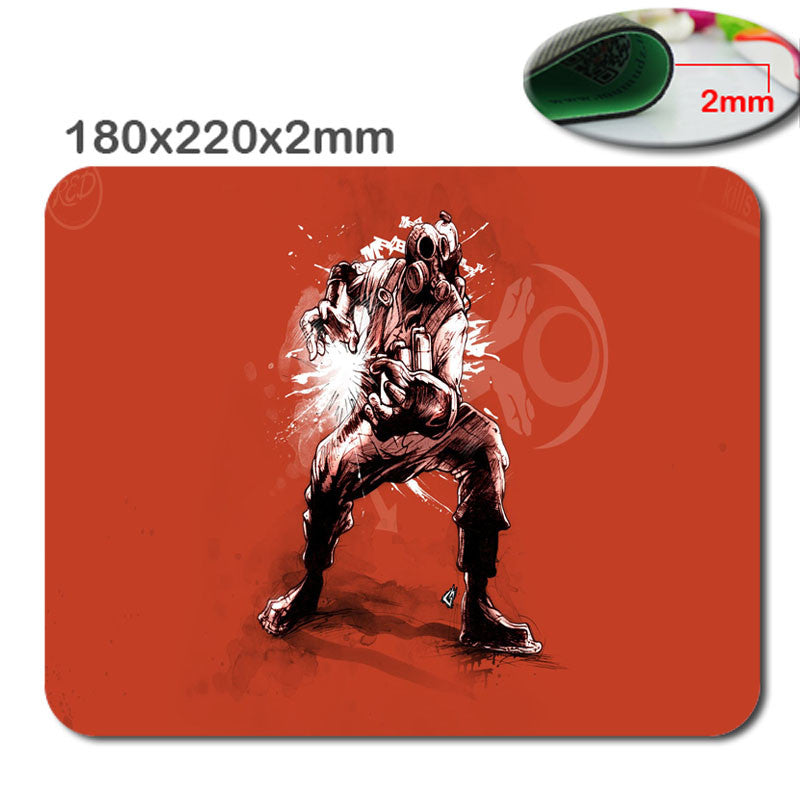 Team fortress 2 Anti - Slip fast Laptop mouse pad printing size 220 * 180 * 2 mm high  DIY soft rubber game mouse cool mouse pad - Clearlygeek - 2