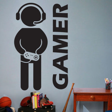 Video Game Gaming Gamer Joystick Wall Decal Art Home Decor Wall Sticker VInyl Decoration Wall Mural Paper - Clearlygeek