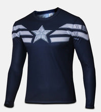 High Quality 2016 Marvel Captain America 2 Winter Soldier Costume 3d Super Hero Jersey Long Sleeves Sport Camisetas T Shirt Men - Clearlygeek - 17