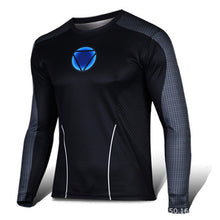 Marvel Super Heroes Avenger Batman sport T shirt Men Compression Armour Base Layer Long Sleeve Thermal Under Top Fitness XS-8XL - Clearlygeek - 16