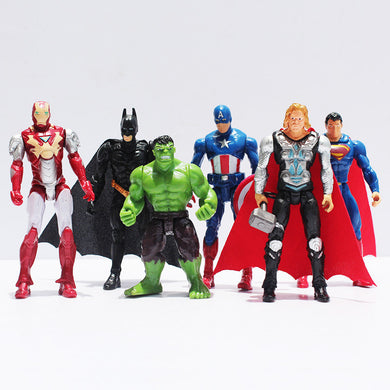 Superheroes The Avengers Batman Spider Man Iron Man Hulk Thor Captain America Joint Moveable PVC Figure Model Toys Free Shipping - Clearlygeek