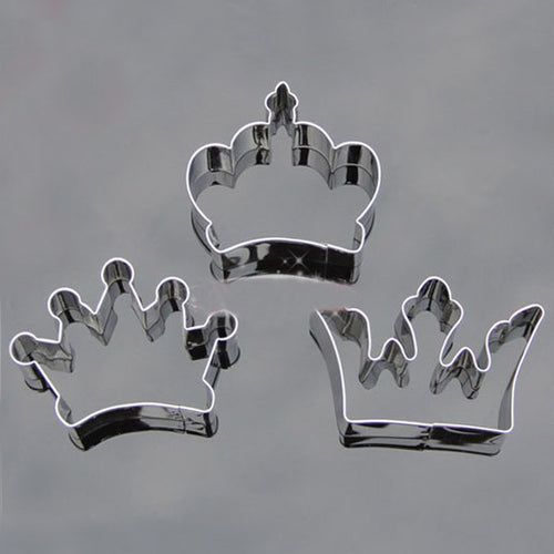 3 style stainless steel Crown special party baking biscuit cookie cutter bread set 1 set - Clearlygeek