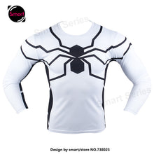 Fashion Marvel Comics Super Heroes Spiderman Captain America Batman Lycra Tights sport T shirt Men fitness clothing Long sleeves - Clearlygeek - 15