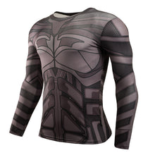 Mens Gym Clothing Sport Fitness tshirt 3D Superman/Captain America Long Sleeve T Shirt Men Crossfit Compression Shirt - Clearlygeek - 12