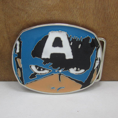 Superhero The Avengers Captain America shield marvel belt buckle cartoon - Clearlygeek