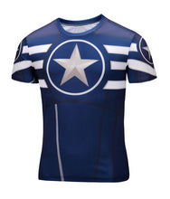 Marvel Super Heroes Avenger Captain America Batman sport T shirt Men Compression Armour Base Layer Thermal Under Causal Shirt - Clearlygeek - 16