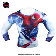 Fashion Marvel Comics Super Heroes Spiderman Captain America Batman Lycra Tights sport T shirt Men fitness clothing Long sleeves - Clearlygeek - 5