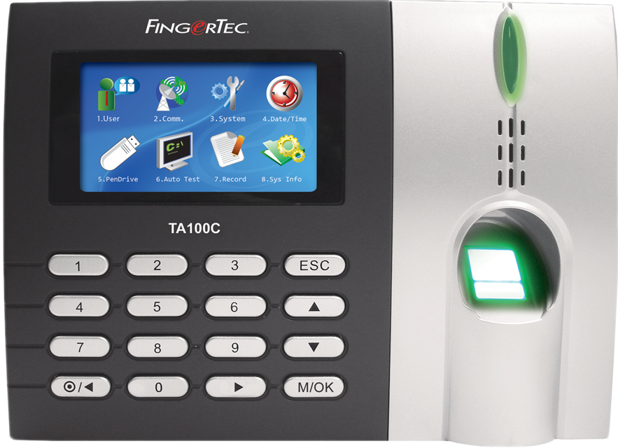 Fingertec TA100C Fingerprint Time Clock