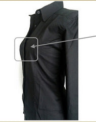 black button up shirt for women