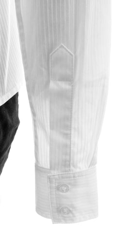 Athena Pinstripes White Button-Up Shirt