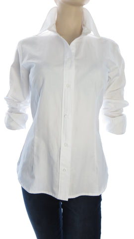 Primo Herringbone White Button-Up Shirt