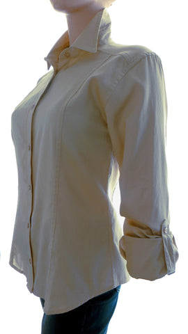 Athena Lane Beige Button-Up Shirt