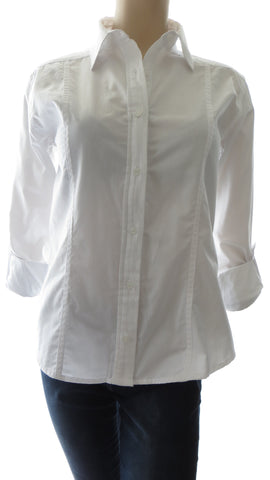 Athena Herringbone White Button-Up Shirt