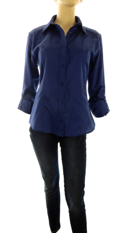 Athena Royal Blue Button-Up Shirt