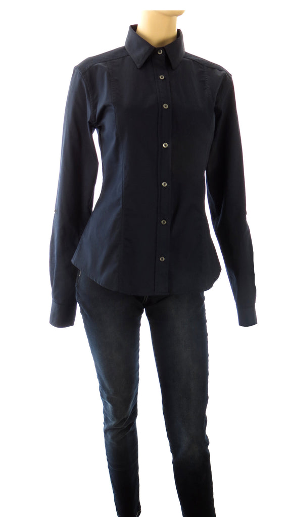 Athena Navy Button-Up Shirt