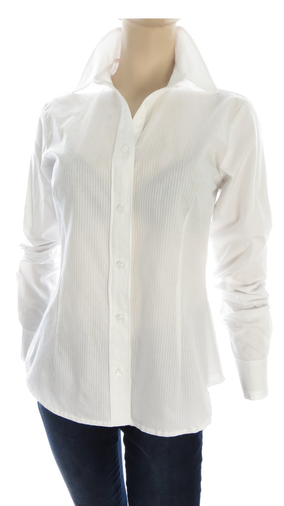 Primo Pinstripes White Button-Up Shirt