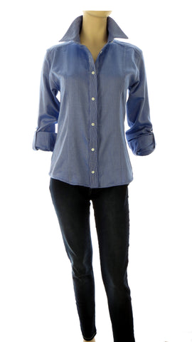 Athena Sky Blue Button-Up Shirt