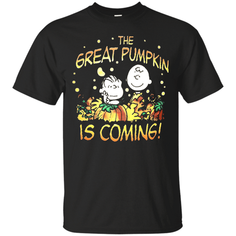 _quot_The-Great-Pumpkin-Is-Coming!_quot_-T-Shirt-Custom-Ultra-Cotton-T-Shirt-Black-Small