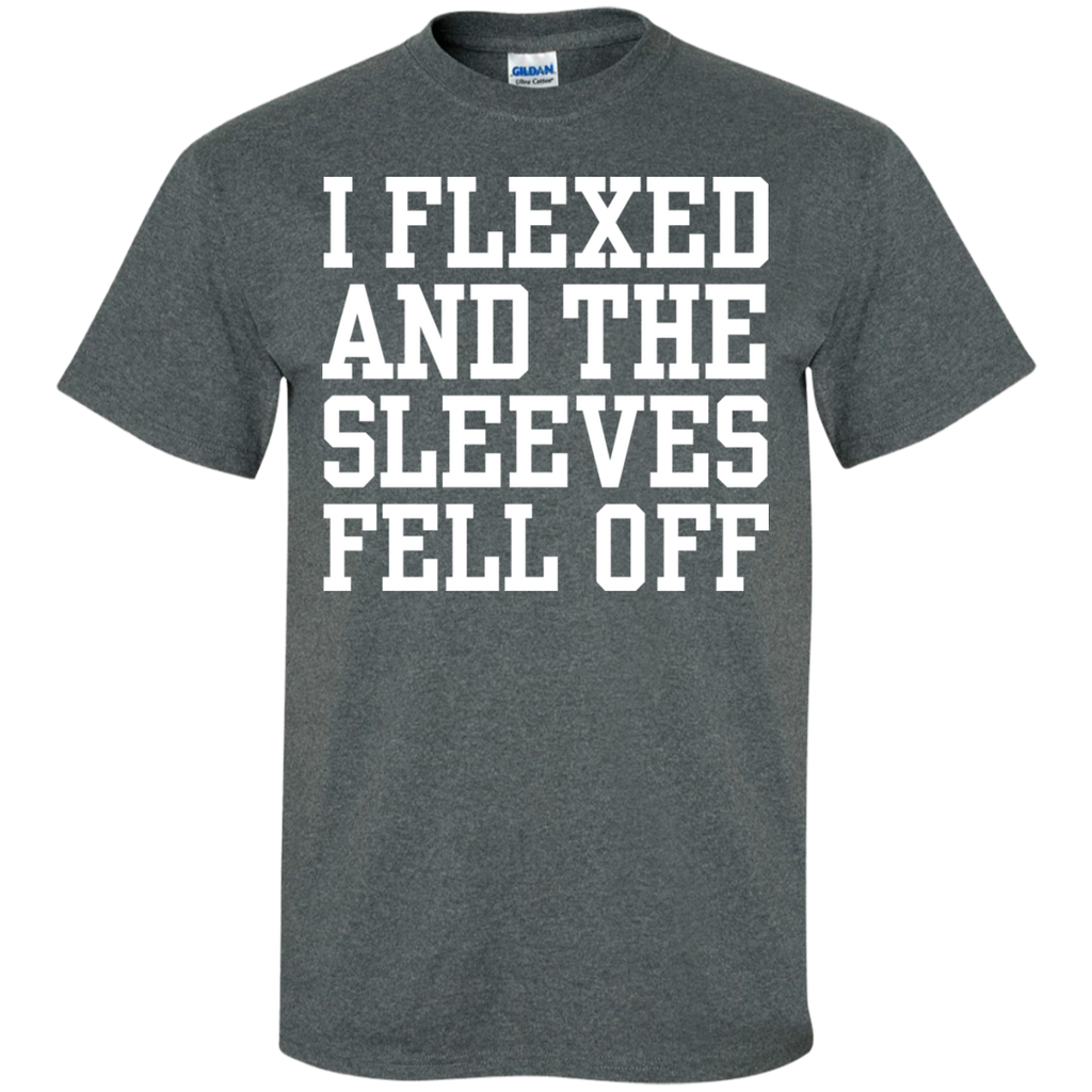 I-Flexed-And-The-Sleeves-Fell-Off-Custom-Ultra-Cotton-T-Shirt-Black-S-