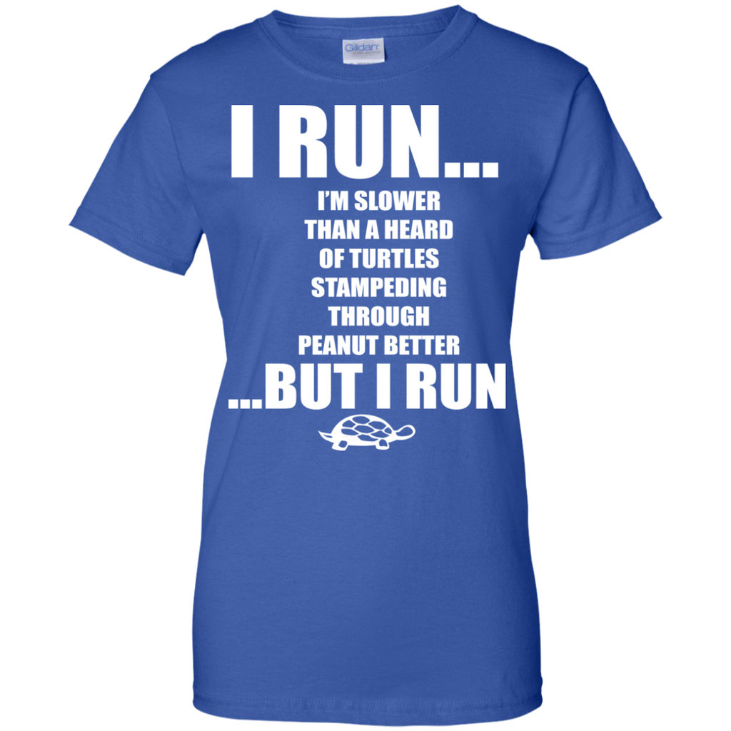 I-run-...-Ladies-Custom-100%-Cotton-T-Shirt-Black-XS-