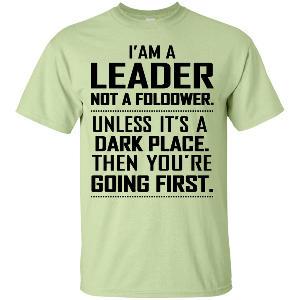 Lead-Never-Follow-Leaders-Baseball-Custom-Ultra-Cotton-T-Shirt-Sport-Grey-S-