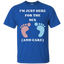 I'm-Just-Here-For-The-Sex-And-Cake-Baby-Shower-Gender-Reveal-T-Shirt---Teeever.com-Black-S-