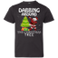 Kids-Shirt---Cute-Dabbing-Around-The-Christmas-Tree-Santa-Swag-Youth-Jersey-Tee-Black-YXS-