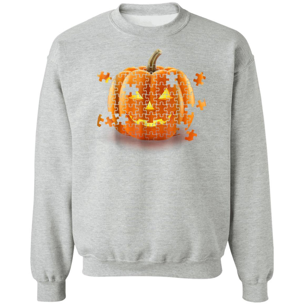 Autism Awareness Pumpkin Piece Puzzle Halloween Sweatshirt