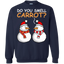 Do-You-Smell-Carrot-Funny-Snowman-Christmas---Sweatshirt,-Tank-Top,-Ladies-T-shirt-Printed-Crewneck-Pullover-Sweatshirt-8-oz-Black-S
