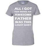 ALL-A-GOT-FOR-BEING-AN-AWESOME-FATHER-WAS-THIS-LOUSY-SHIRT-Ladies-Custom-100%-Cotton-T-Shirt-Sport-Grey-XS-