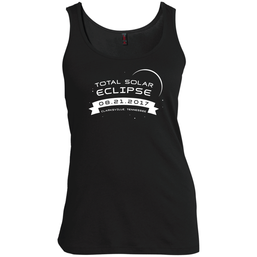 Total-Solar-Eclipse-2017-Clarksville-Tennessee-Women's-Tank-Top-Warm-Grey-XS-