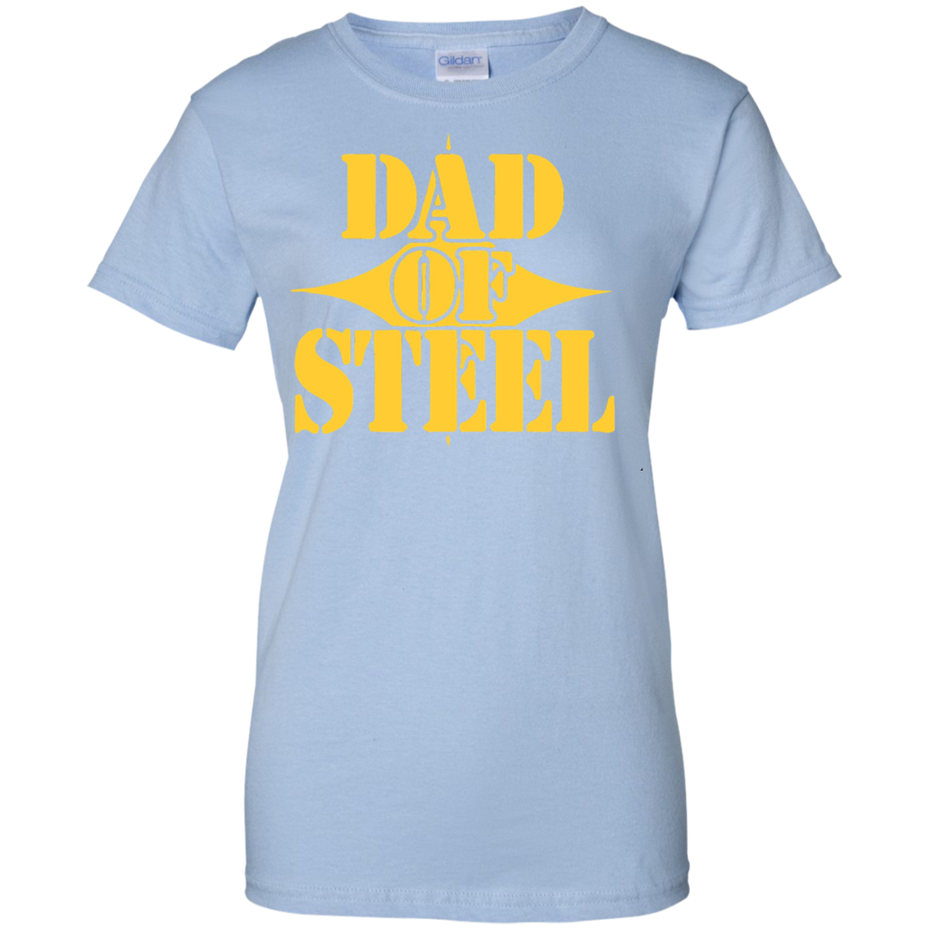 Dad-of-steel-Ladies-Custom-100%-Cotton-T-Shirt-Sport-Grey-XS-