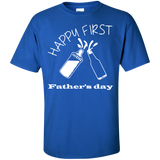 happy-first-father's-day-Custom-Ultra-Cotton-T-Shirt-Black-S-