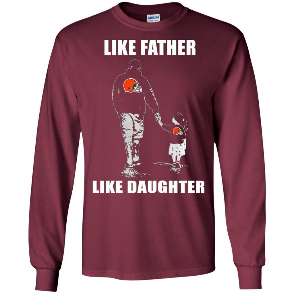 Outstanding-Like-Father-Like-Daughter---Cleveland-Browns---Father's-Day-Shirt-Black-S-