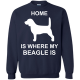 Beagle-Where-my-home-is-Printed-Crewneck-Pullover-Sweatshirt-8-oz-Navy-S-