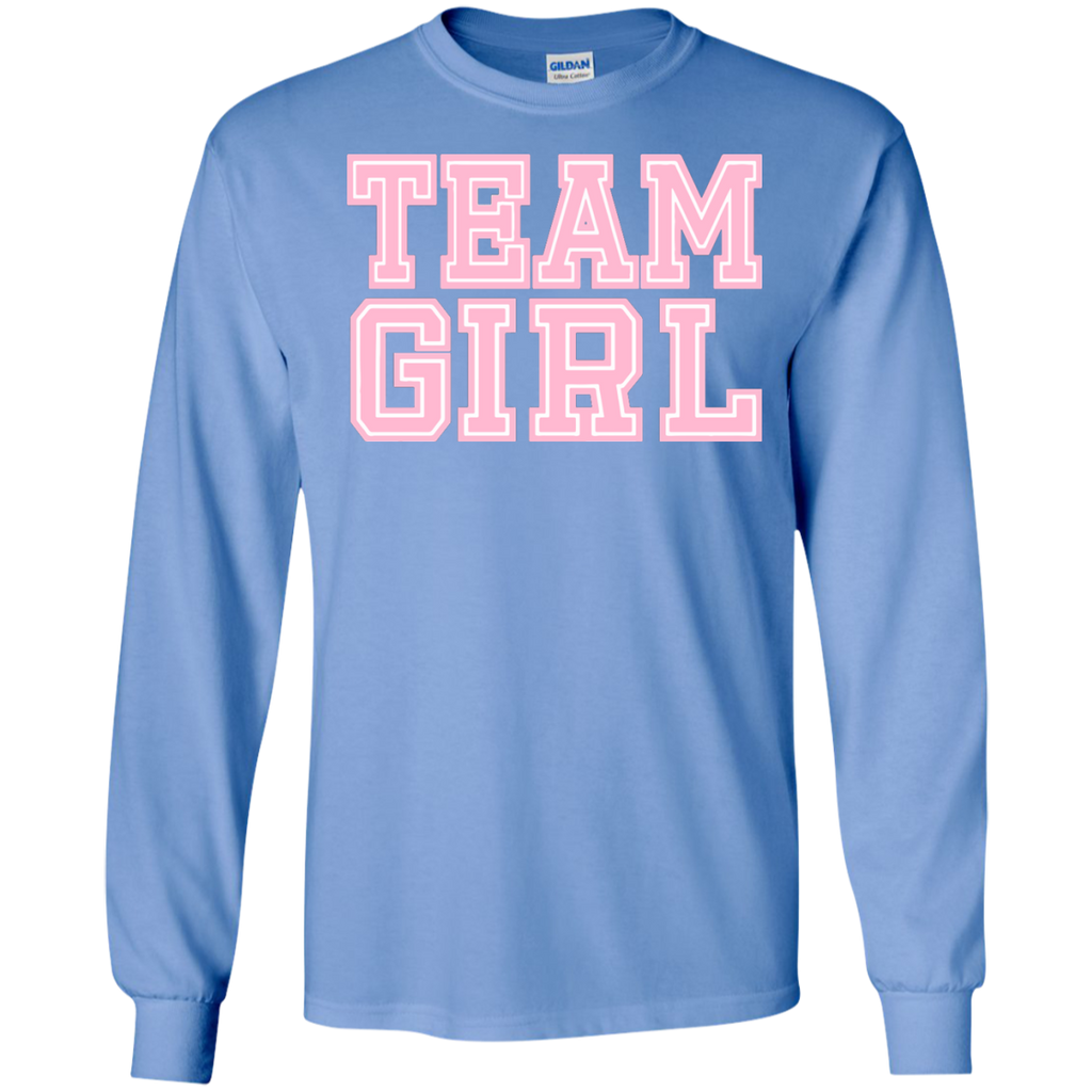 Team-Girl-Baby-Shower-Gender-Reveal-Party-Cute-Funny-Pink-LS-Ultra-Cotton-Tshirt-Black-S-