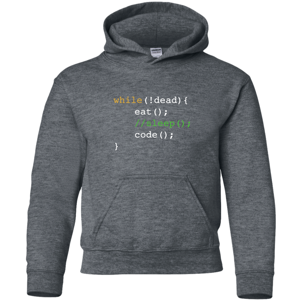 Funny-Computer-Science-Programmer-Eat-Sleep-Code-YOUTH-Tshirt/LS/Sweatshirt/Hoodie-PC90Y-Port-and-Co.-Youth-Crewneck-Sweatshirt-Jet-Black-YXS