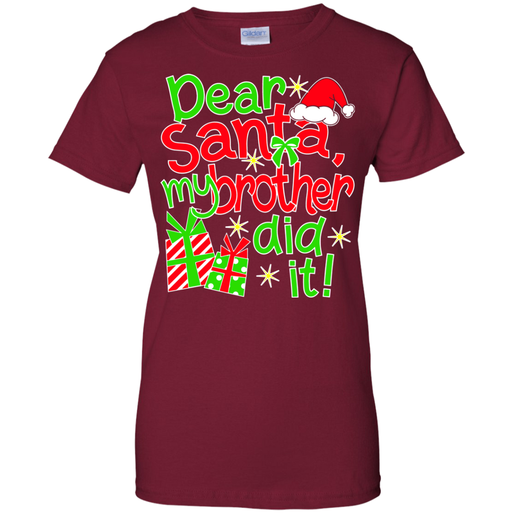 Dear-Santa-My-Brother-Did-It---Family-Christmas-Men/Women-T-shirt-Unisex-T-Shirt-Black-Small