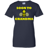 SOON-TO-GRANDMA-Ladies-Custom-100%-Cotton-T-Shirt-Black-XS-