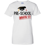 Pre-school-Ladies-Custom-100%-Cotton-T-Shirt-Sport-Grey-XS-