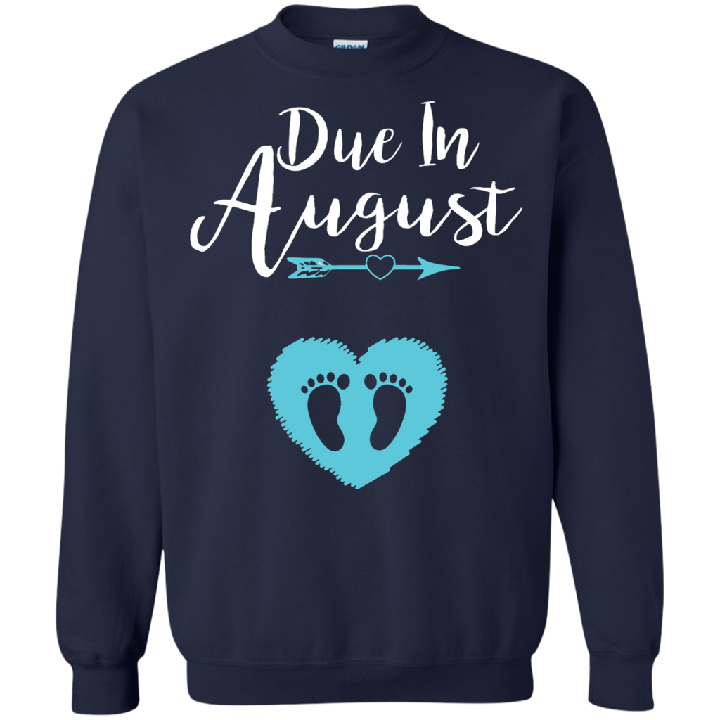 Due-In-August-Cute-Baby-Boy-Maternity-Announcement-Pullover-Sweatshirt---Teeever.com-Black-S-