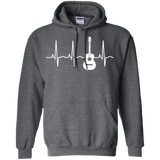 Acoustic-Guitar-Heartbeat---Guitar-Musician-LS/Hoodie/Sweatshirt-LS-T-Shirt-Black-Small