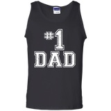 #1-Dad-Number-One-Father's-Day-Vintage-Style-Tank-Top---TEEEVER-Black-S-