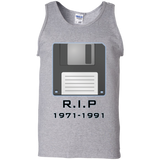 Floopy-Disk-RIP-1971-1991-Tank-Top-Shirt-Sport-Grey-S-