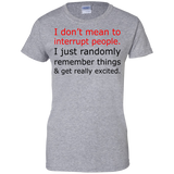 I-Don't-Mean-To-Interrupt-Ladies-Custom-100%-Cotton-T-Shirt-Sport-Grey-XS-