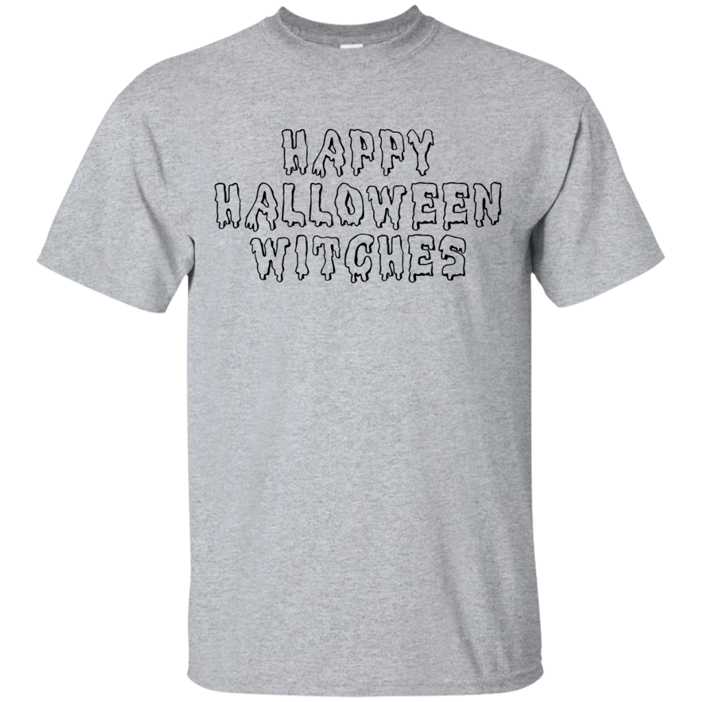 Happy Halloween Witches T-Shirt - Sport Grey / S- Short Sleeve -TeeEver.com