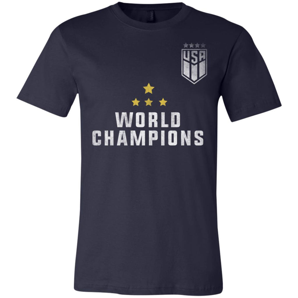 USA Women Soccer Jersey World Champions 4 Stars Adult/Youth's Tshirt