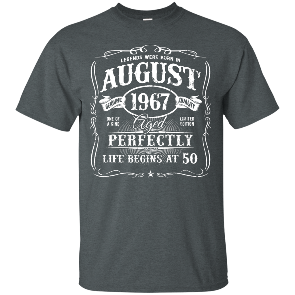 Legends-Were-Born-In-August-1967,-50th-Birthday-Gift-T-Shirt-Black-S-